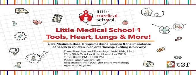 little medical school workshop: tools, heart, lungs, & more!