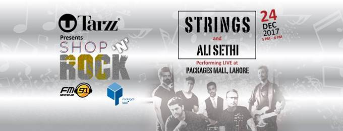 tarzz shop 'n' rock live performance by strings and ali sethi