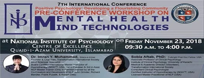 one-day certificate workshop on mental health mind technologies