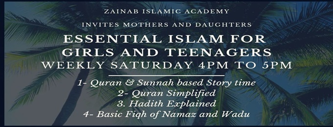 essential islam for girls and teenagers