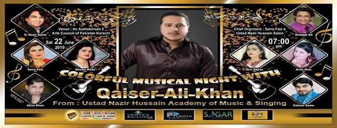 colorful musical night with qaiser ali khan
