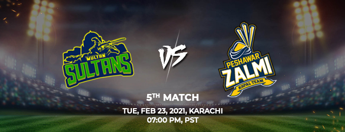 Multan Sultans VS Peshawar Zalmi 5th Match (PSL 2021)