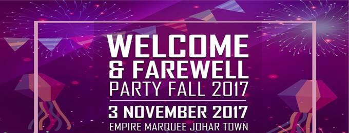 welcome & farewell party fall 2017