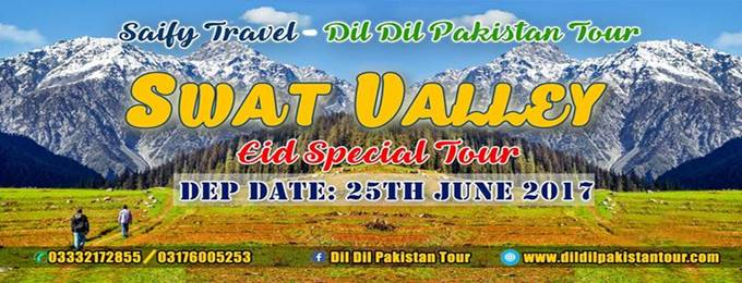 8 Days Eid Vacations Tour to (Swat Valley)
