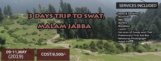 3 days trip to swat, malam jabba (3 days/2 nights)