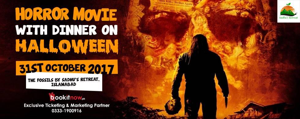 horror movie with dinner on halloween