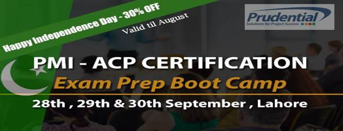 pmi acp exam prep workshop - 3 days weekend program, lahore