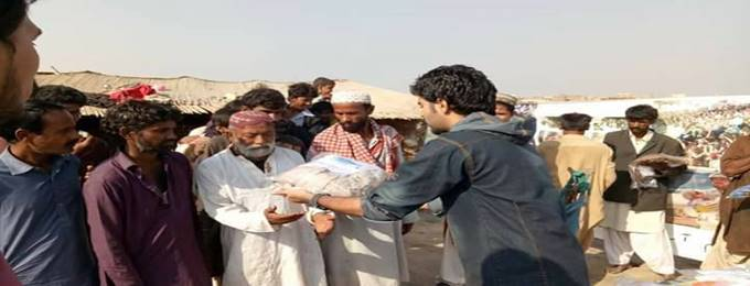 Clothes Distribution Among Needy People by Rah-e-Akhrat Welfare