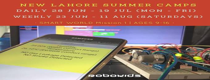 smart world electronics course in summer camp 2018