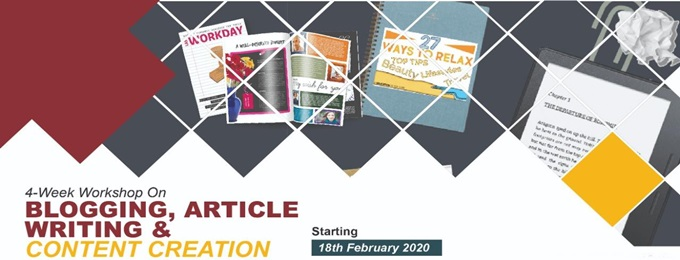 workshop on 'blogging, article writing & content creation'