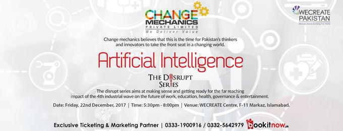 Seminar on Artificial Intelligence: Disrupt Series