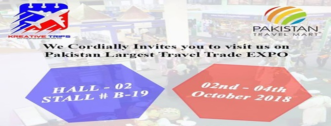 kreative trips at pakistan travel mart 2018