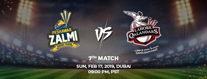 Peshawar Zalmi VS Lahore Qalandars 7th Match (PSL 2019)