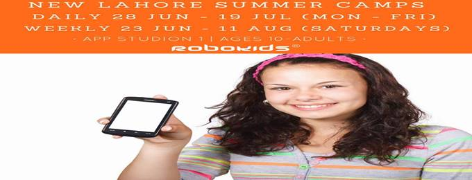 make mobile apps: app studio course in summer camp 2018