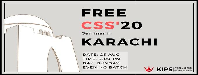 free kips css '20 seminar | karachi
