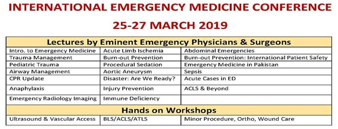 International Emergency Medicine Conference | Lahore