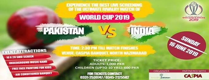 world cup 2019 pakistan vs india live screening