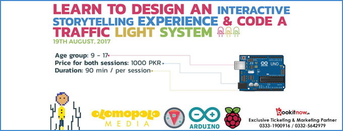 learn to design an interactive storytelling experience & code a traffic light system