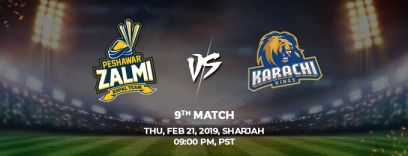 peshawar zalmi vs karachi kings 9th match (psl 2019)