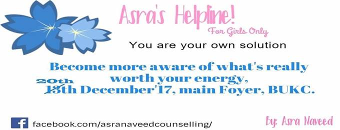 asra's helpline!