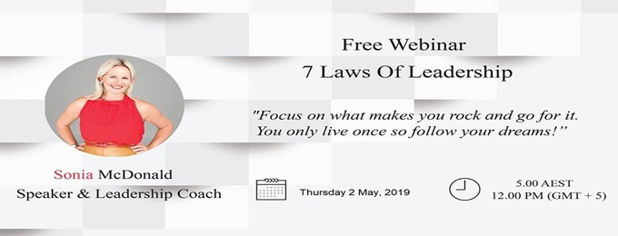 free webinar - 7 laws of executive leadership
