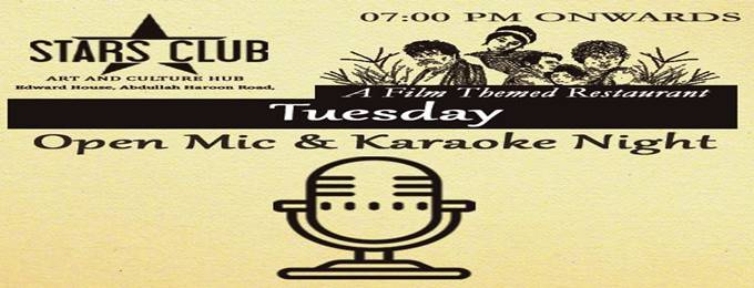 "every tuesday ""open mic & karaoke night"""