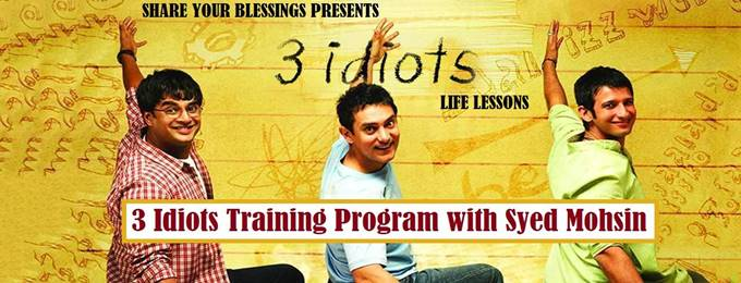 3 idiots training program with syed mohsin