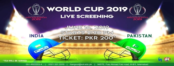 pakistan vs india - world cup live screening