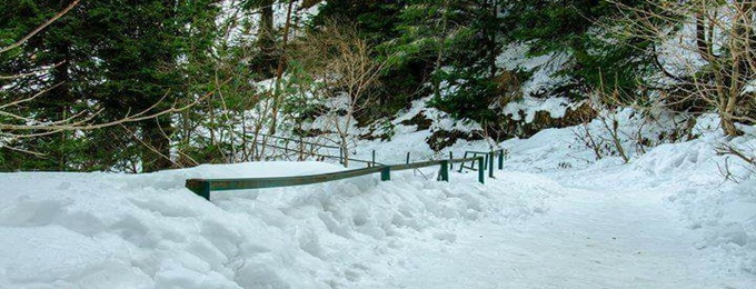 snowhike at pipeline track