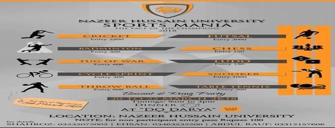 nazeer hussain university presenting sports mania