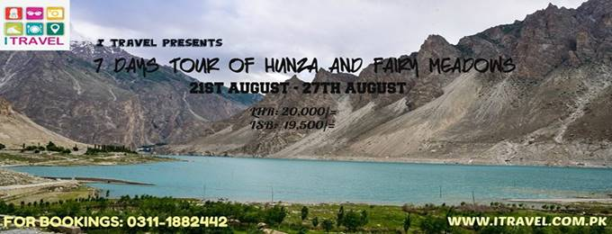 7 days tour of hunza & fairy meadows