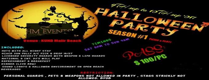 halloween open beach party