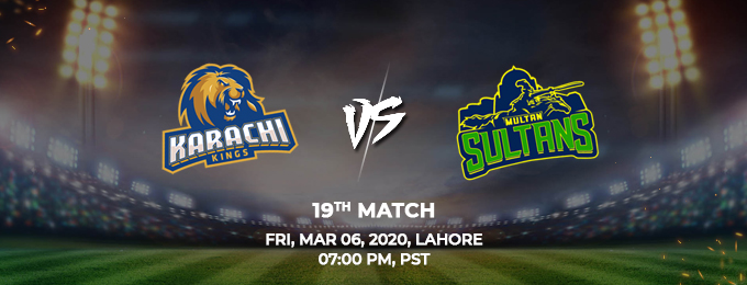 Karachi Kings vs Multan Sultans 19th Match (PSL 2020)