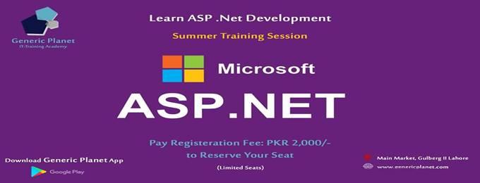 asp.net summer training session (become a asp.net developer)