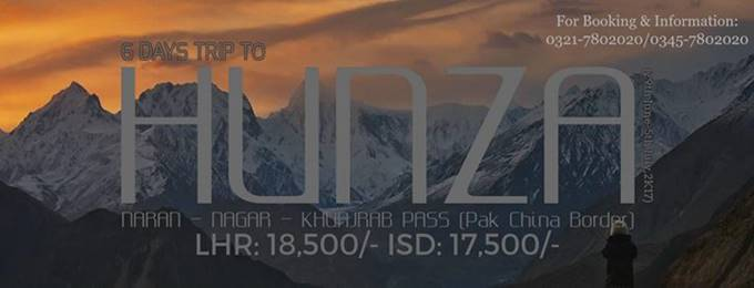 6 days eid trip to hunza,nagar & khunjrab (29th june-5th july)