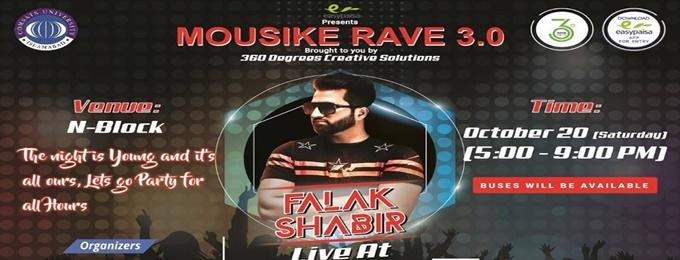 mousike rave 3.0 presents falak shabir live concert.