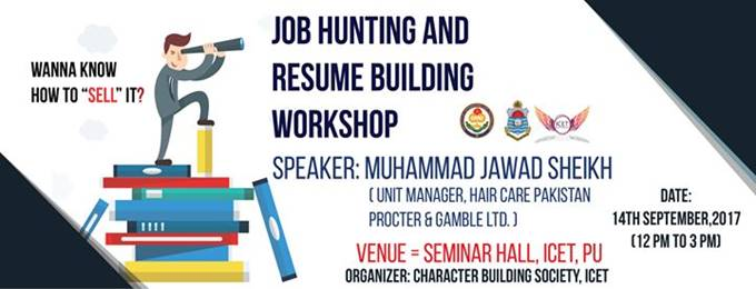 Job Hunting And Resume Building Workshop Lahore Bookitnow Pk