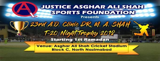 23rd ao clinic dr m a shah t20 night trophy 2018