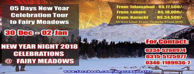 new year night 2018 celebrations tour at fairy meadows