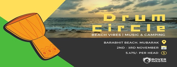 beach vibes | drum circle, music & camping with crashing waves.
