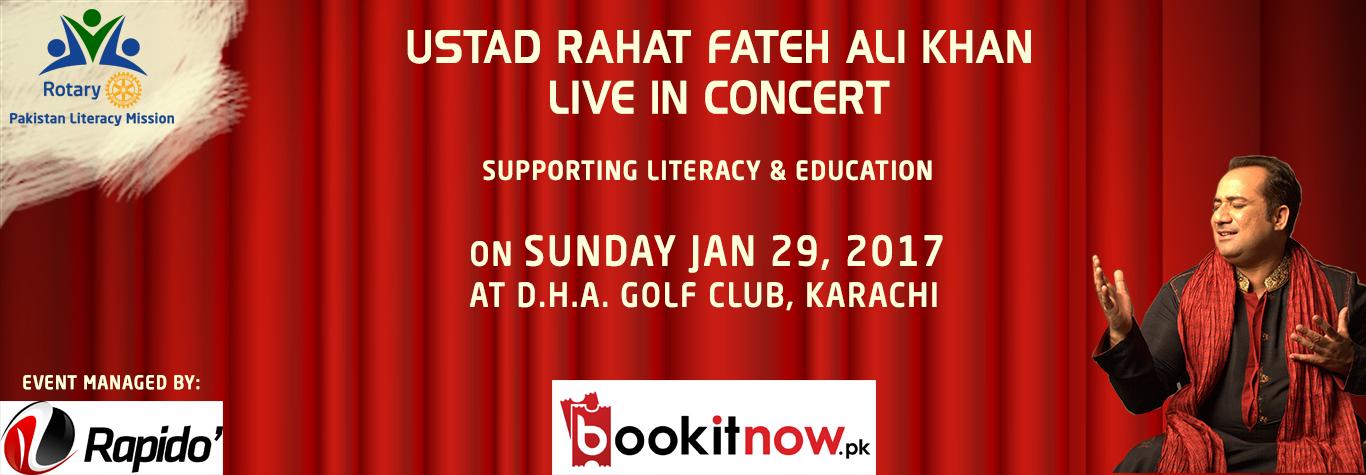 rotary - i support literacy | ustad rahat fateh ali khan live in karachi