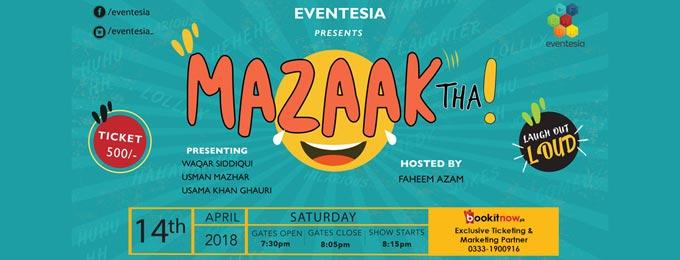 Eventesia's Mazaak Tha - Stand-up Comedy Show
