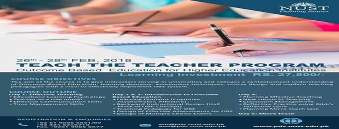 teach the teacher program- outcome based education for hei
