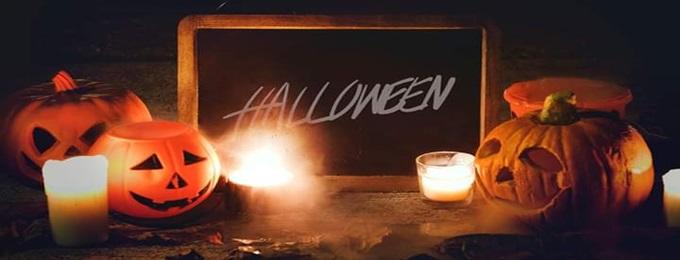halloween night horror movie with bbq dinner