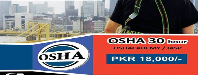 osha 30 hours course in lahore