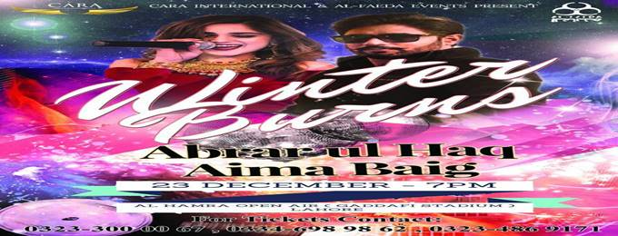 winter burns abrar ul haq & aima baig live concert