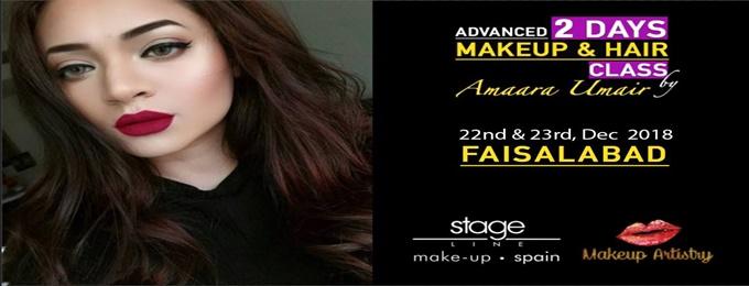 fsd makeup class by amaara umair (pakistan tour)