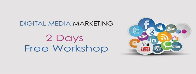 2 days free workshop digital media marketing