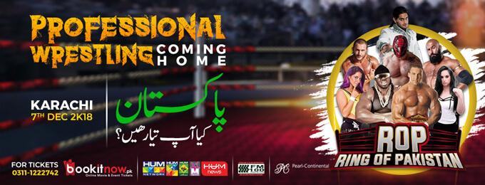professional wrestling | ring of pakistan 2k18 - karachi