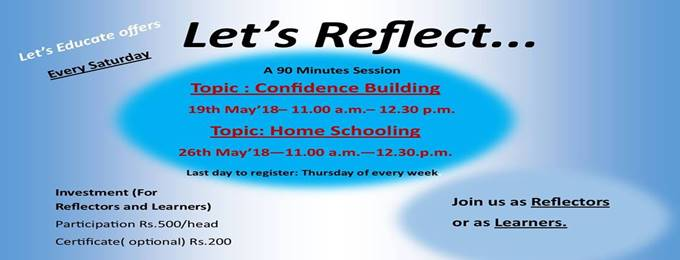 let's reflect- a 90 minutes session to reflect and learn